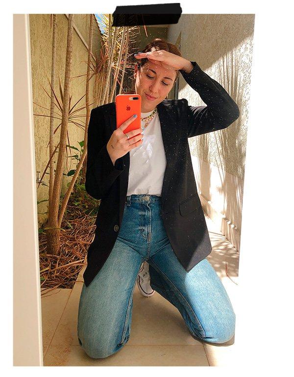 Giulia Coronato - Jeans - Alfaiataria - Inverno - Em casa - https://stealthelook.com.br
