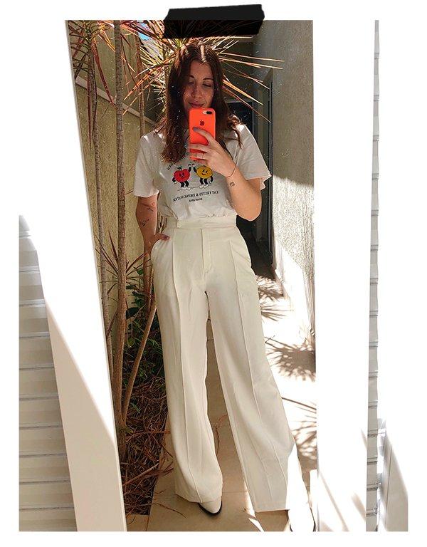 Giulia Coronato - Wide leg - Alfaiataria - Inverno - Em casa - https://stealthelook.com.br