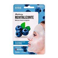 Máscara Facial Kiss NY - Máscara Facial de Algodão Blueberry - 1Un