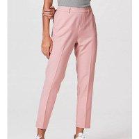 Calça Feminina Modelagem Reta Com Elastano - Rosa