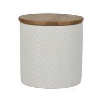 Pote De Cerâmica Lyor Branco Kasa Ideia