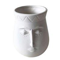 Vaso de Cerâmica Branco Linha Faces