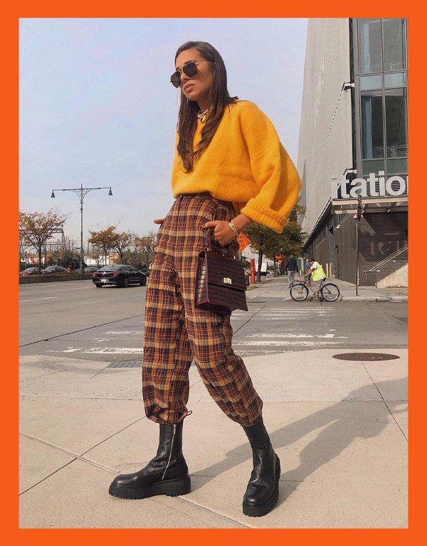 Danielle Bernstein - modelo de bota - chunky boots bota chunky - inverno - street style - https://stealthelook.com.br