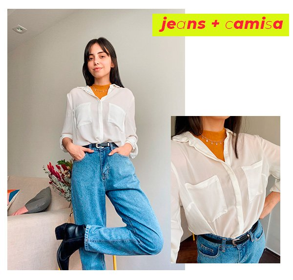 It girls - Jeans + camisa branca - Dicas de styling - Inverno - Street Style - https://stealthelook.com.br