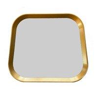 *Imagens meramente ilustrativas  Espelho Retangular com Moldura Dourada 33x38 cm - D\'Rossi