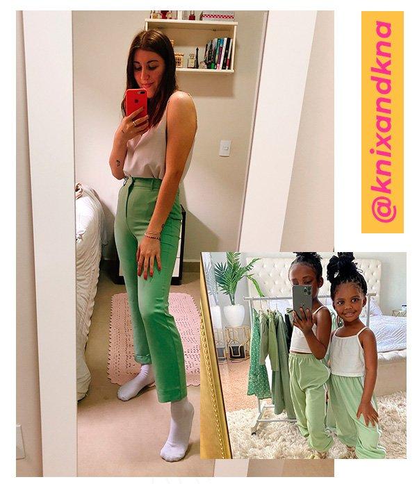 It girls - Calça de alfaiataria - Crianças mais estilosas do Instagram - Inverno - Em casa - https://stealthelook.com.br