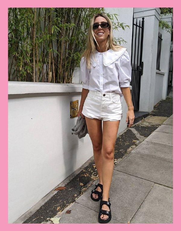 Hannah Lewis - blusa tendência - big collar gola babados - inverno - street style - https://stealthelook.com.br
