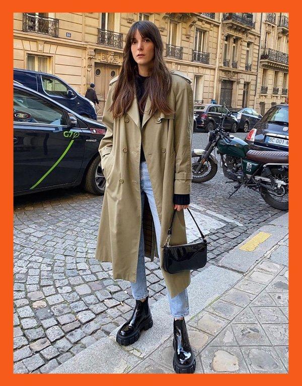 Leia Sfez - modelo de bota - chunky boots bota chunky - inverno - street style - https://stealthelook.com.br