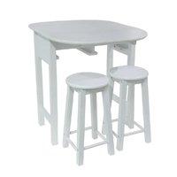 Conjunto de Mesa e Banqueta Praxis Branco 71cm