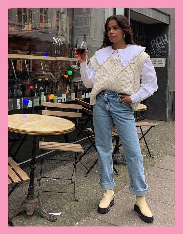 Naomi Anwer - blusa tendência - big collar gola babados - inverno - street style - https://stealthelook.com.br