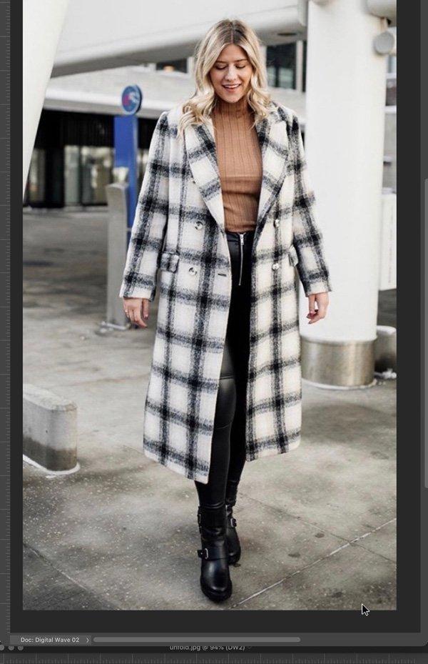 Raeann Langas - casaco - xadrez - inverno - em-casa - https://stealthelook.com.br