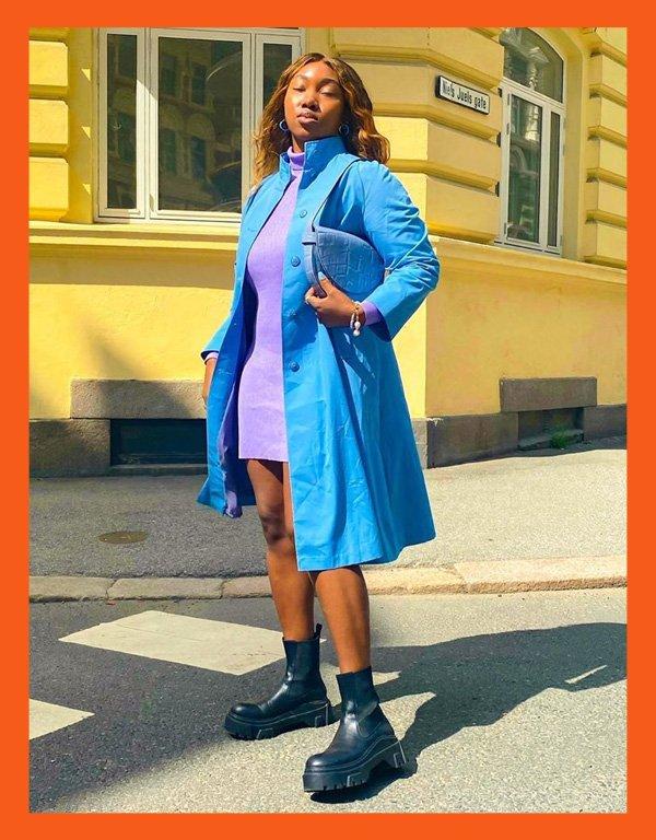 Nnenna Echem - modelo de bota - chunky boots bota chunky - inverno - street style - https://stealthelook.com.br