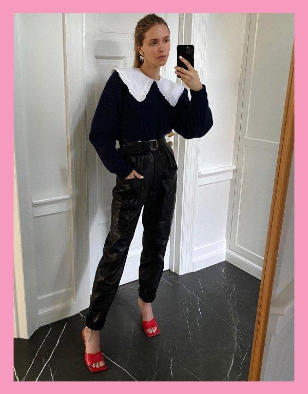Pernille Teisbaek - blusa tendência - big collar gola babados - inverno - street style - https://stealthelook.com.br