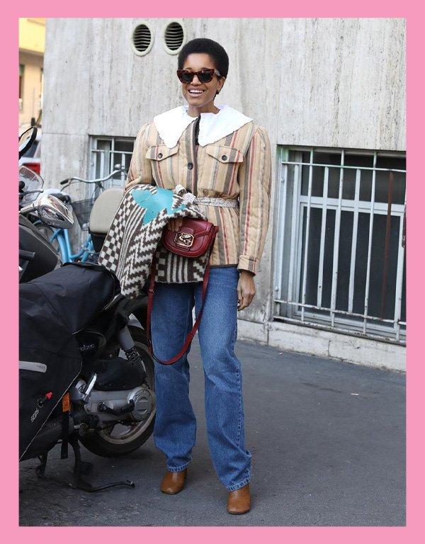 Tamu Mcpherson - blusa tendência - big collar gola babados - inverno - street style - https://stealthelook.com.br