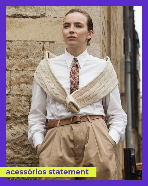Jodie Comer - camisa-e-gravata - gravata - inverno - Killing Eve - https://stealthelook.com.br