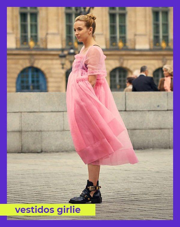 Jodie Comer - vestido-rosa - vestidos - inverno - Killing Eve - https://stealthelook.com.br