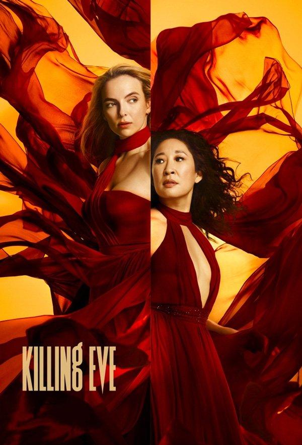 Sandra Oh, Jodie Comer - vestido-vermelho - série - inverno - série - https://stealthelook.com.br