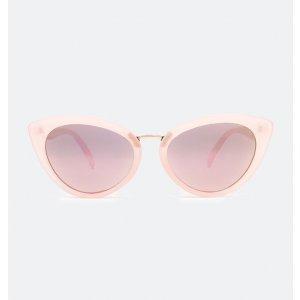 Óculos de Sol Feminino Gateado e Espelhado