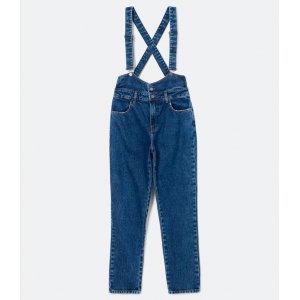 Macacão Jeans Liso com Suspensório
