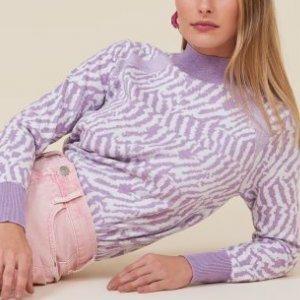 Suéter Leve Zebrado Gola