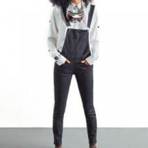 Macacão Feminino Black Jeans Preto Tamanho 36