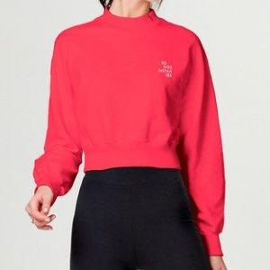 Blusão Feminino Em Moletom Cropped Colors