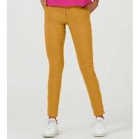 Calça Básica Feminina Alfaiataria - Amarelo