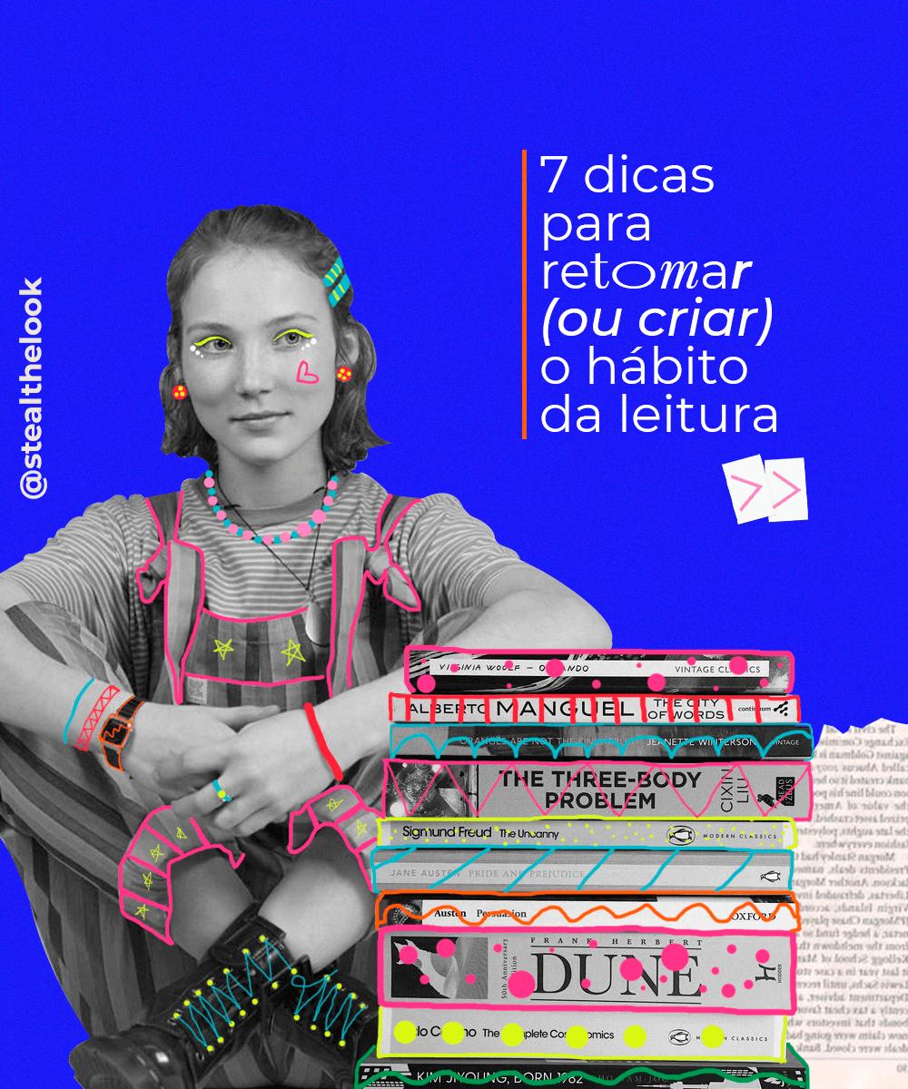 It girls - Leitura - Hábito da leitura - Primavera - Em casa - https://stealthelook.com.br