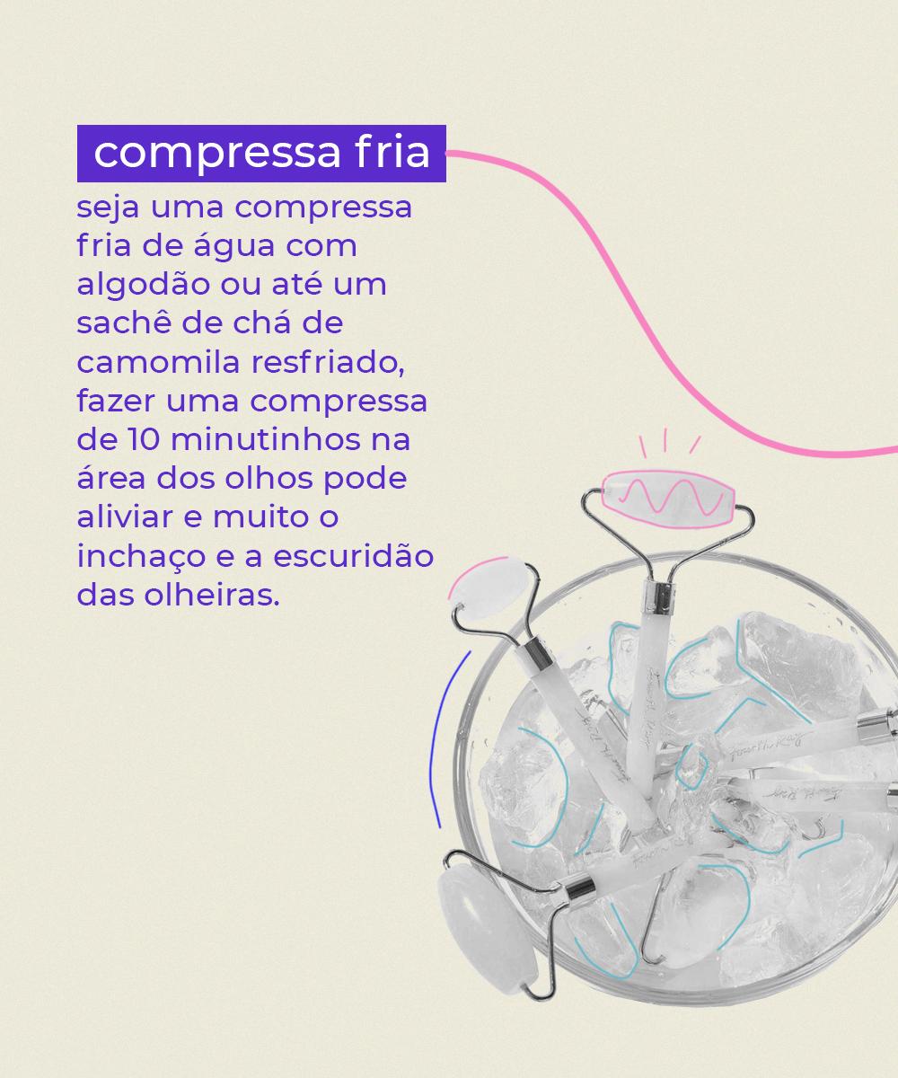 It girls - Compressa fria - Olheiras - Inverno - Em casa - https://stealthelook.com.br