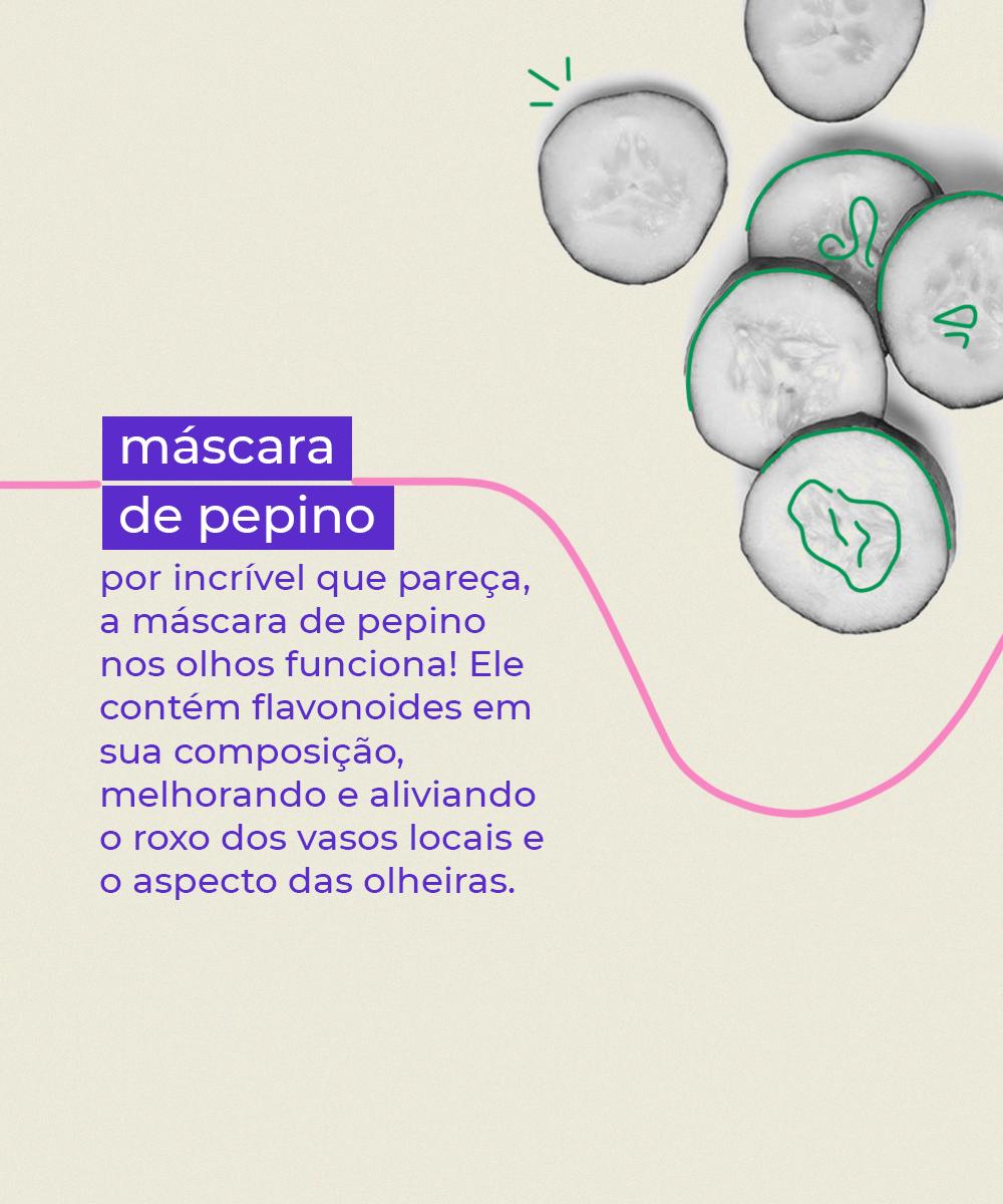 It girls - Máscara de pepino - Olheiras - Inverno - Em casa - https://stealthelook.com.br