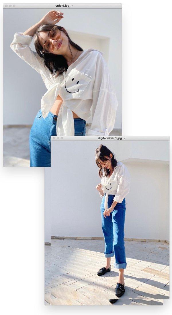 Giovana Marçon - camisa-branca-e-jeans - smiley - verão - em-casa - https://stealthelook.com.br