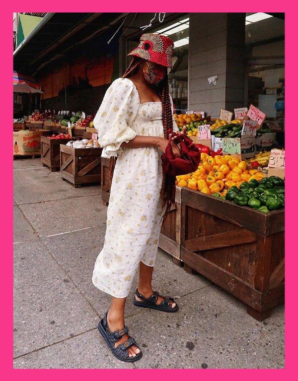 Karen Blanchard - sandália tendência - chanel dad sandals - verão - street style - https://stealthelook.com.br