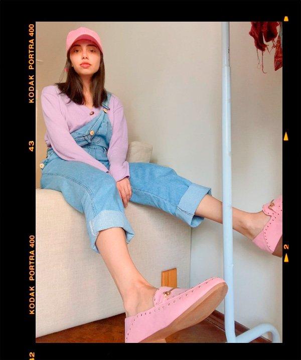 Giovana Marçon - jardineira-jeans - jardineira-jeans - inverno - em-casa - https://stealthelook.com.br