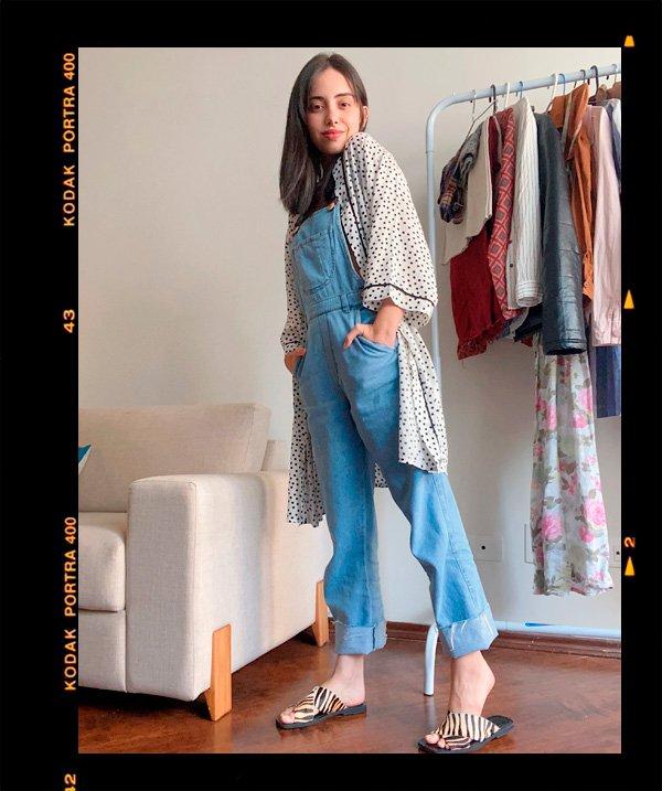 Giovana Marçon - jardineira - jardineira-jeans - verão - em-casa - https://stealthelook.com.br