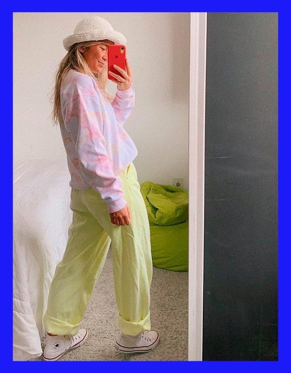 It girls - Moletom - Tie dye - Inverno - Em casa - https://stealthelook.com.br