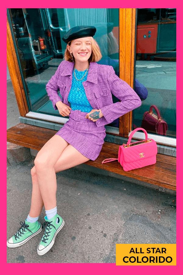 Marianne Theodorsen  - All Star colorido  - Tênis  - verão - street style  - https://stealthelook.com.br