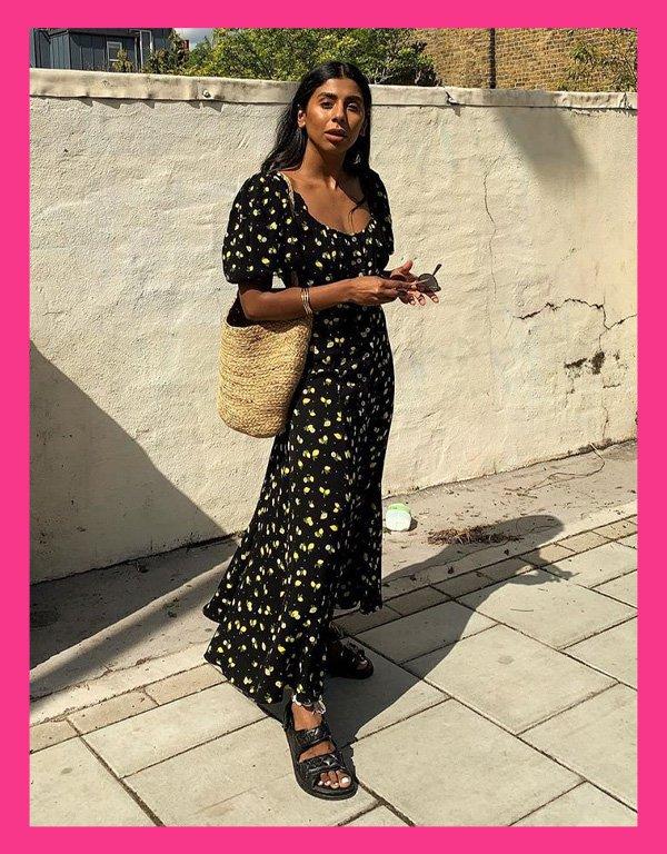 Monikh Dale - sandália tendência - chanel dad sandals - verão - street style - https://stealthelook.com.br