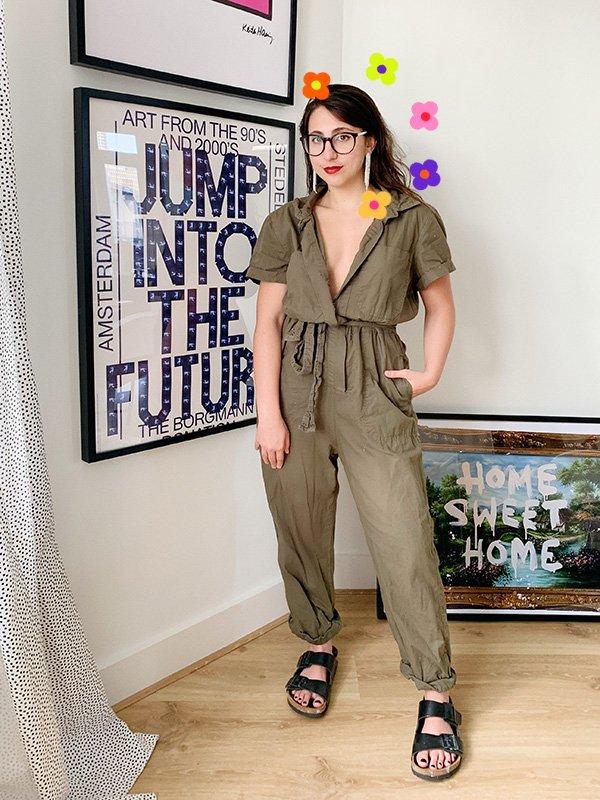 Sofia Stipkovic - macacão - birkenstock - verão - em-casa - https://stealthelook.com.br