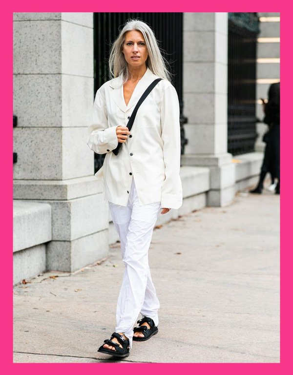 Sarah Harris - sandália tendência - chanel dad sandals - verão - street style - https://stealthelook.com.br