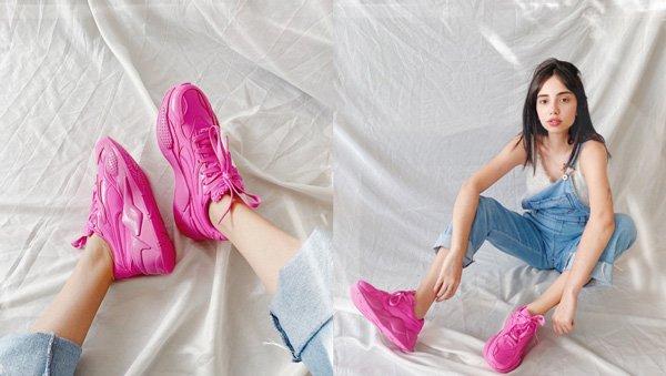 Giovana Marçon - jardineira - tenis-pink - inverno - em-casa - https://stealthelook.com.br