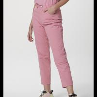 Calça Básica Feminina Em Sarja - Rosa Claro