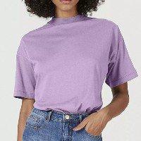Blusa Básica Feminina Modelagem Oversized Gola Alta - Roxo