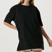 Camiseta Unissex Com Bordado Smiley