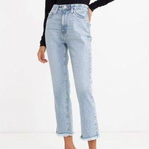 Calça Jeans Mom Lisa com Barra Desfiada