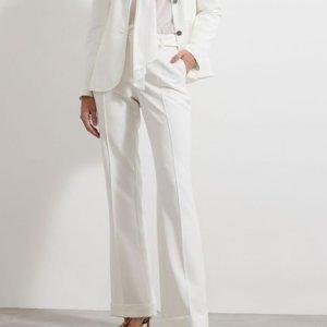 Calça Alfaiataria Liso Pantalona com Cinto