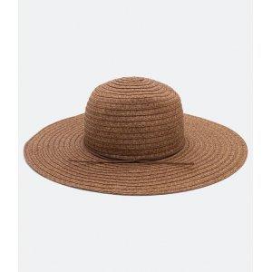 Chapéu de Palha Liso com Cordão em Fake Suede