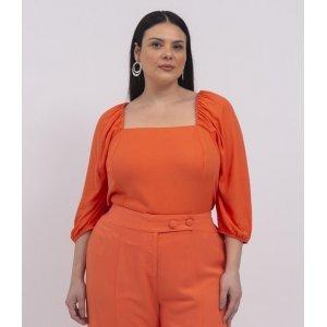 Blusa Lisa com Decote Quadrado Curve & Plus Size
