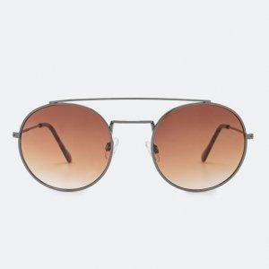 Óculos de Sol Feminino Redondo com Ponte Dupla