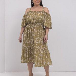 Vestido Midi Estampa Jardinagem Curve & Plus Size