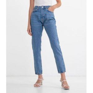 Calça Mom Jeans Lisa com Bolsos